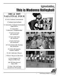 2006 madonna university volleyball media guide by tony baldwin issuu