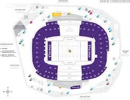 map us bank stadium stadium maps u s bank stadium
