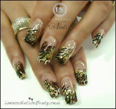 27 acrylic nails design red and gold stylepics