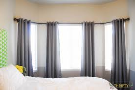 Window Curtain Double Rods Living Room Awesome How To Bay Windows Curtain Rods Drapery Rings