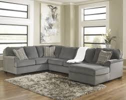 Contemporary Sectional Sofa With Chaise Ashley Furniture Loric Smoke Contemporary 3 Piece Sectional With