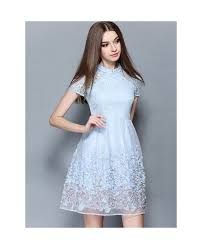 baby dresses for wedding baby blue lace wedding guest dress gemgrace
