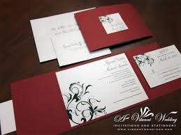 Debut Invitation Card Red And Black Wedding Invitation U2013 A Vibrant Wedding