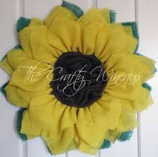 burlap sunflower wreath yellow burlap sunflower wreath the crafty wineaux