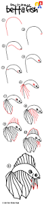 how to draw a betta fish art for kids hub betta fish betta