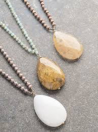 stone colored necklace images Stone long beaded stone necklace 3 colors bobbles and lace jpg