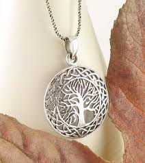 medallion necklace silver images Celtic tree of life necklace in sterling silver free shipping in jpg