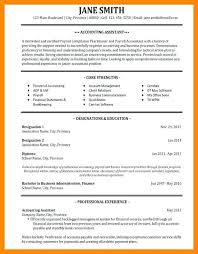 sample resume for bookkeeper accountant accounting cover letter