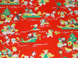 where the things are wrapping paper vtg christmas wrapping paper gift wrap snowmen couples