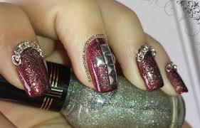 cross nail design baroquen nails