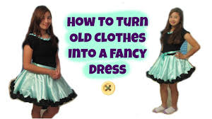old cloth halloween background diy how to turn old clothes into a fancy dress youtube