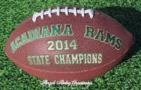 custom embroidered football