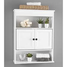 Bathroom Wall Storage Cabinets Bathroom Wall Storage Cabinet White Shelf Organizer Bath Mount