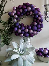 purple and silver wreath http botanicart blog com 2012 11 27