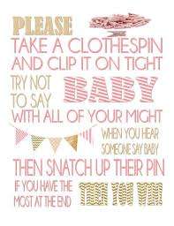 clothespin baby shower clothespin baby shower don t say baby baby shower