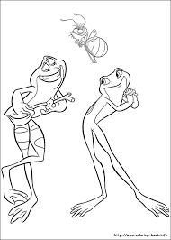 Princess And The Frog Coloring Pages Princess And The Frog Sheets