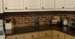 kitchen with brick backsplash brick backsplash tile faux brick tile backsplash home design ideas