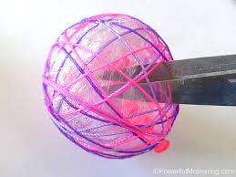 yarn or string ornaments