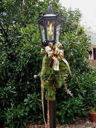 outdoor christmas lamp post decoration ideas best christmas