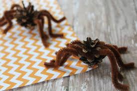 pinecone spider craft for halloween the neighborhood moms