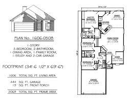 1 story floor plan narrow 1 story floor plans under 36 feet wide