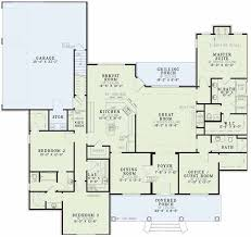 3 Bedroom 2 Bath Open Floor Plans Plan 59296nd Covered Front Porch Traditional Home Open Floor