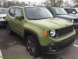 new jeep renegade green 2016 jeep renegade 75th anniversary jungle green 9111 kevinspocket