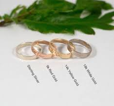 wedding bands in ash leaf wedding bands in sterling silver by fragment designs