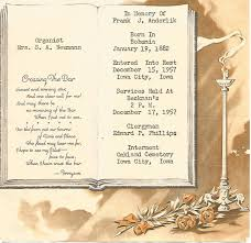 Burial Invitation Card Johnson Co Families