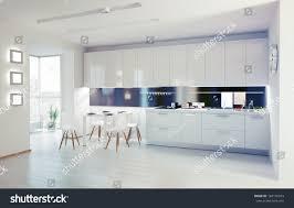 Interior Design Modern Kitchen Modern Kitchen Interior Design Concept Stock Illustration