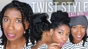 natural styles that you can wear in the winter last minute fix styling bedtime two strand twists easy