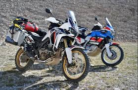 first motocross bike first u s factory demo rides of the honda africa twin to take