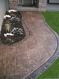 Diy Cement Patio by 37 Best Stamped Colored Concrete Images On Pinterest Patio Ideas