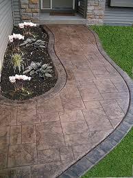Backyard Concrete Ideas Best 25 Stamped Concrete Walkway Ideas On Pinterest Concrete