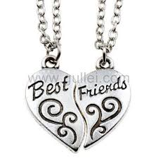 friend necklace images Customized best friend necklaces for 2 people personalized couples jpg