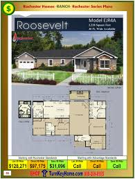 roosevelt floor plan roosevelt rochester modular home model ejr4a plan price