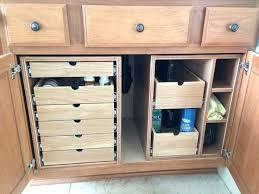 Storage Containers For Bathrooms by Organize Under Kitchen Sink Storage Under Cabinet Knife Storage