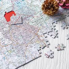 World Map Puzzles by Personalised Our House Map Jigsaw By Thelittleboysroom