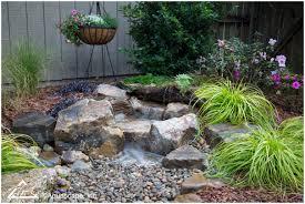 backyards ergonomic waterfall backyard backyard waterfall design