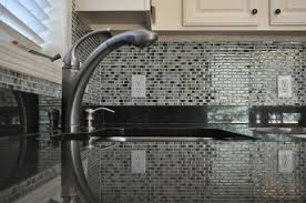 glass mosaic tile kitchen backsplash ideas ideas grey glass mosaic tile backsplash with metal kitchen sink