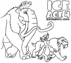 ice age coloring pages to download and print for free