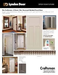 Craftsman 3 Panel Interior Door Craftsman Interior Doors Craftsman Primed Lefthand Smooth Solid