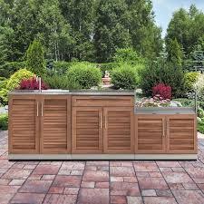 outdoor kitchen cabinet door hinges newage products grove stainless steel 4 outdoor kitchen