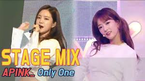60fps apink only one 교차편집 stage mix show music core youtube