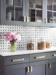 gold brass cabinet hardware modern gray kitchen makeover kitchen remodeling hgtv remodels