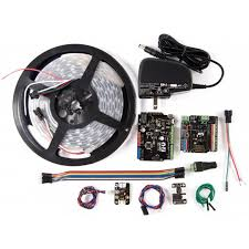 rgb led strip smart phone controller arduino kit robotshop