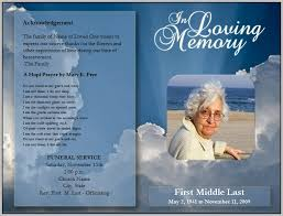 funeral booklet templates free blank funeral program template template resume exles