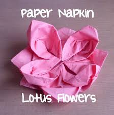 paper napkin flower tutorial paper napkin lotus flowers creative life let s fold it