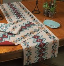 zig zag table runner southwestern zig zag table runner kay dee southwest at heart pattern