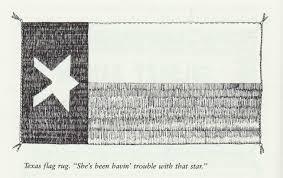 Black And White Texas Flag Navajo Pictorial Weavings